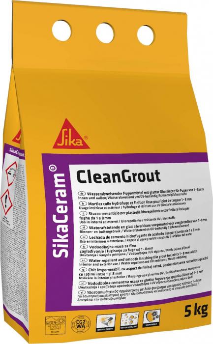 Chit pentru rosturi Sika Ceram Clean Grout, Sika, light grey, 5 kg 0