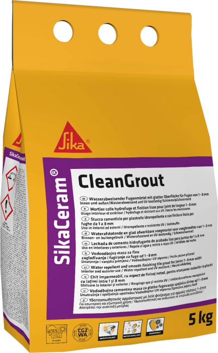 Chit pentru rosturi Sika Ceram Clean Grout, Sika, terracotta, 5 kg [0]