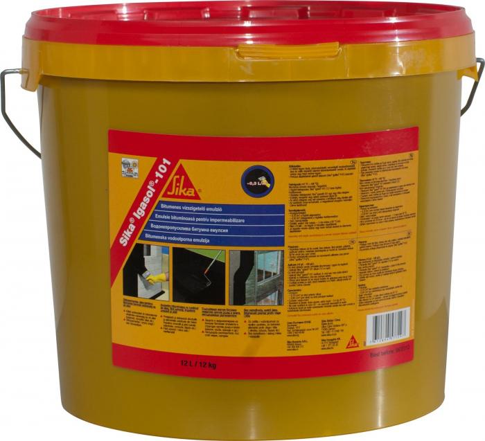 Emulsie bituminoasa pentru hidroizolatii Igasol 101, Sika, 12L 0