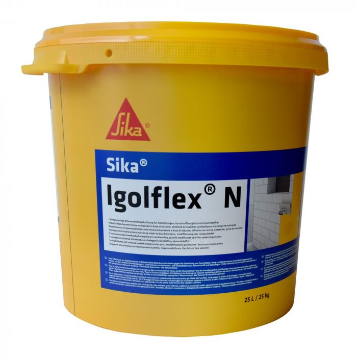 Masa de spaclu flexibila din bitum-cauciuc pentru hidroizolatii,Sika Igolflex N, 25 kg 0