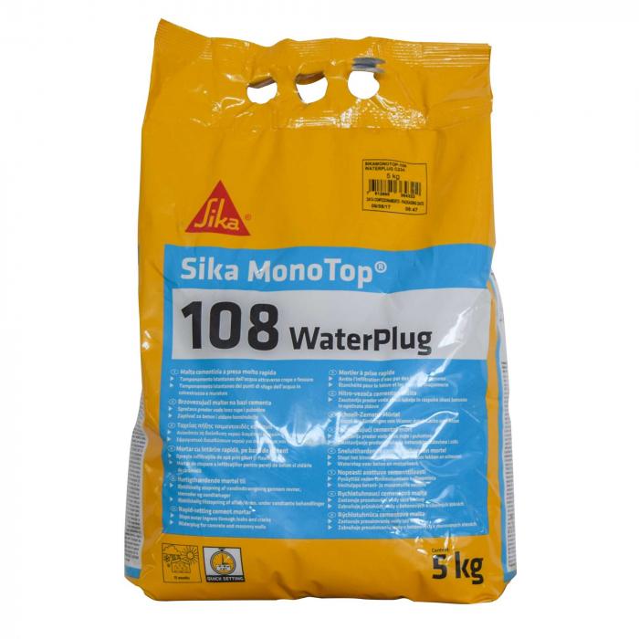 Mortar de stopare a infiltratiilor de apa, Sika MonoTop-108 WaterPlug, 5kg 0