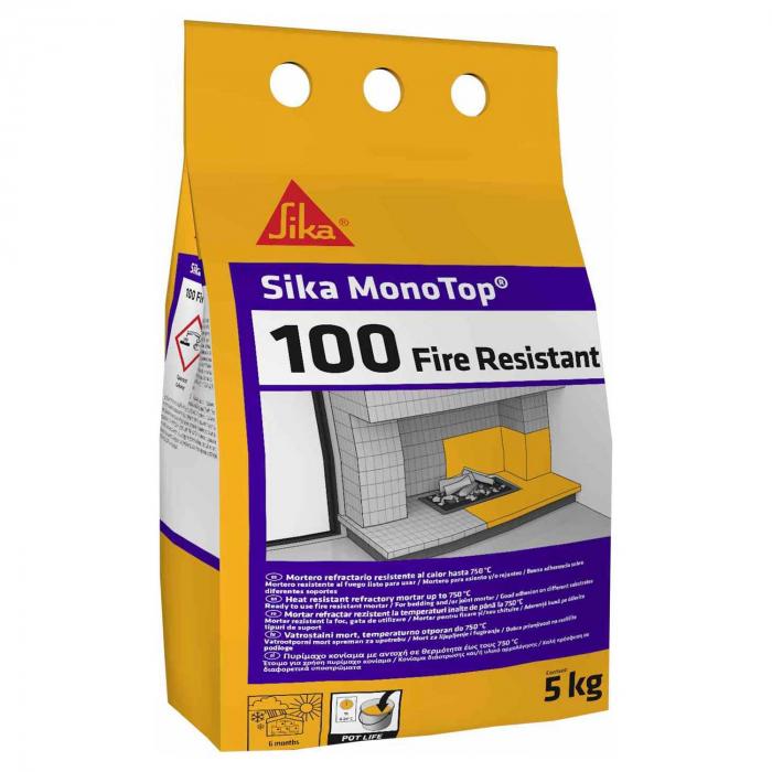 Mortar refractar Sika Mono Top 100 rezistent la foc, Sika, 5 kg [0]