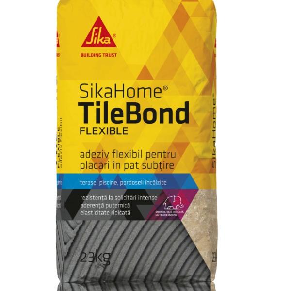 Adeziv flexibil SikaHome TileBond Flexible, Sika, 20 kg 0