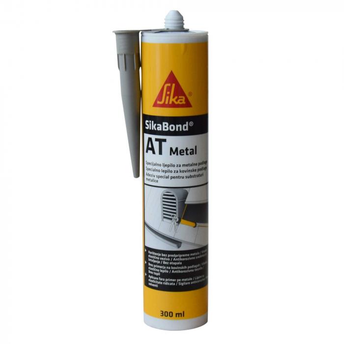Adeziv pentru metal SikaBond AT, Sika 300 ml [0]