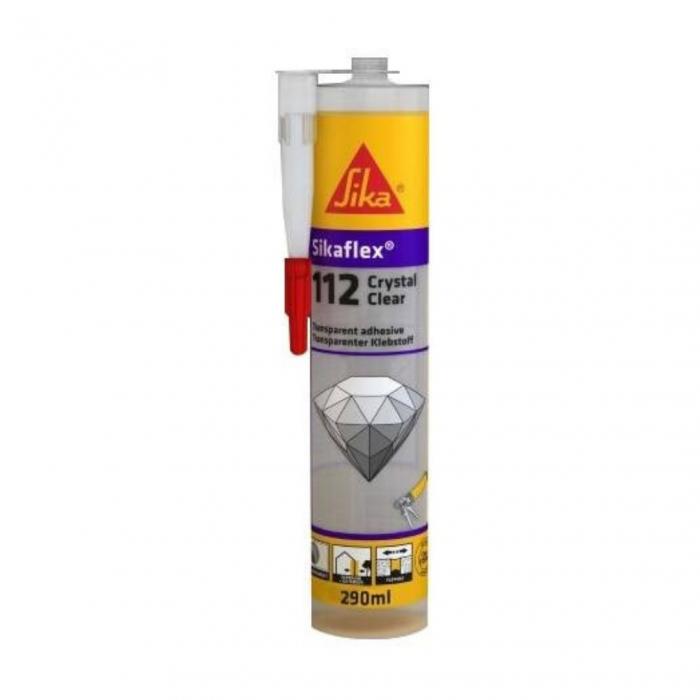 Adeziv si sigilant universal Sikaflex 112 Crystal Clear, 290 ml ,transparent 0