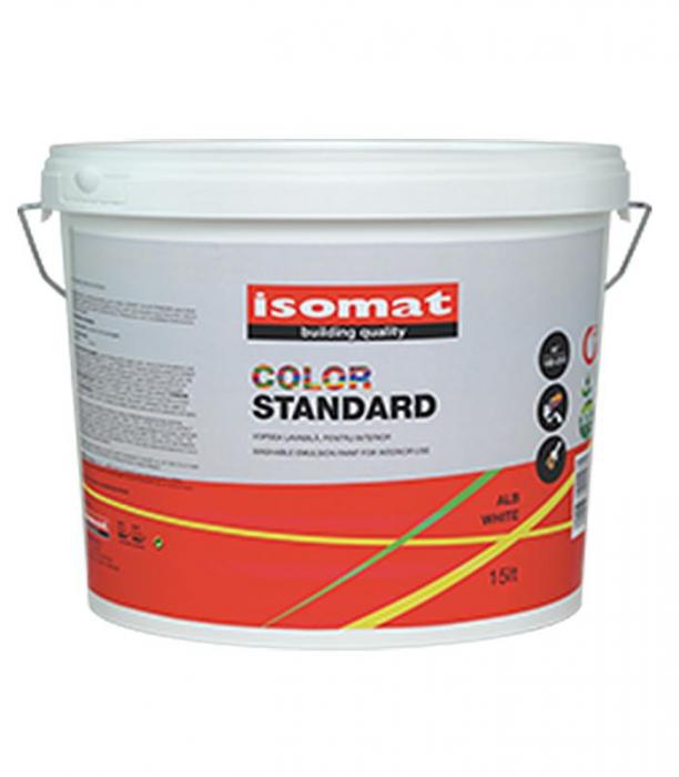 Vopsea lavabila pentru interior Isomat Color Standard, 25L, Alb 0