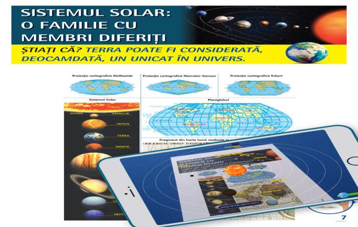 Atlas geografic scolar. Cunoasterea Terrei prin realitatea augmentata 1