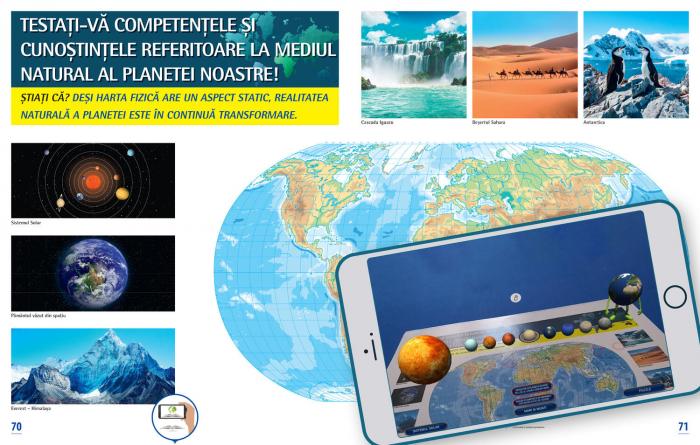 Atlas geografic scolar. Cunoasterea Terrei prin realitatea augmentata 4