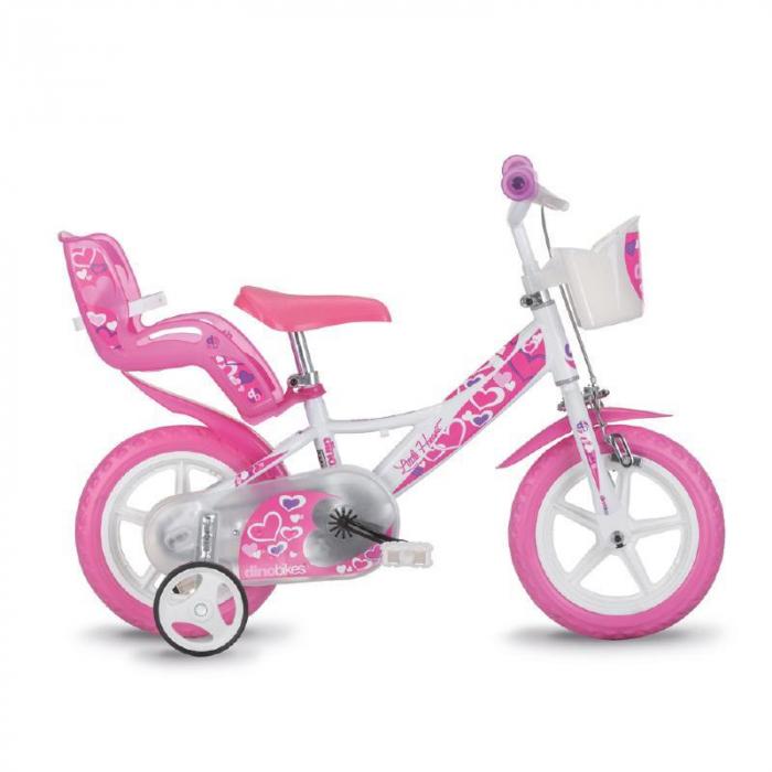 Bicicleta copii 12'' RLN - Inimioare 0