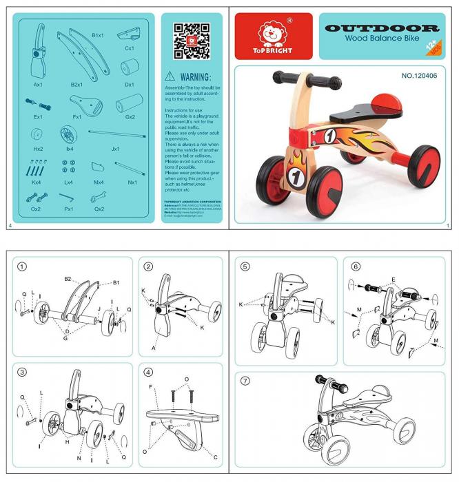 Bicicleta din lemn fara pedale [7]