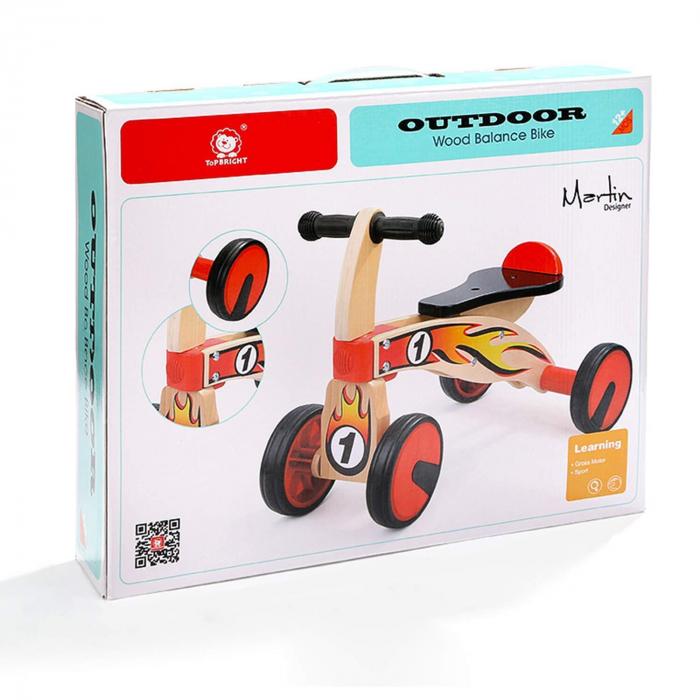 Bicicleta din lemn fara pedale 6