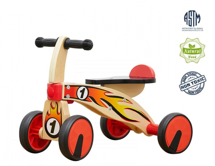 Bicicleta din lemn fara pedale 0