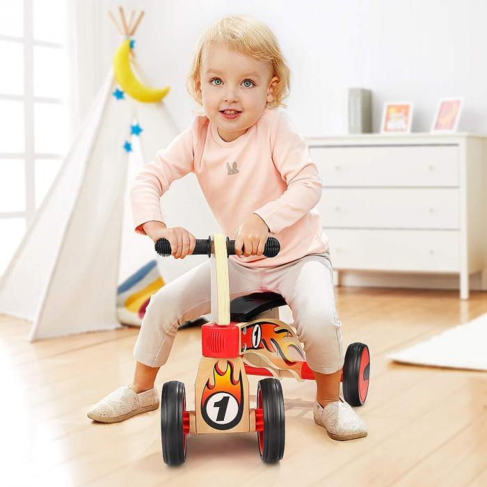 Bicicleta din lemn fara pedale 5