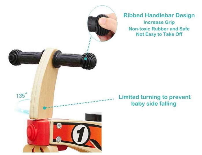 Bicicleta din lemn fara pedale 3