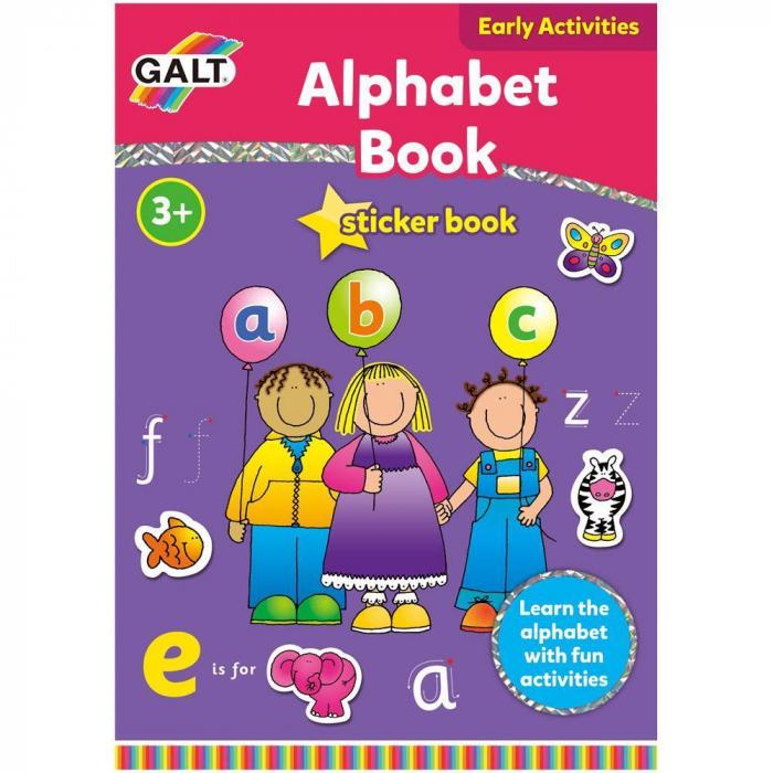 Carte cu activitati si abtibilduri - Alfabet 0