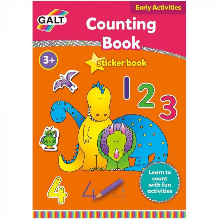 Carte cu activitati si abtibilduri - Invatam sa numaram 0