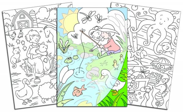 Carte de colorat - Copiezi si te distrezi 1