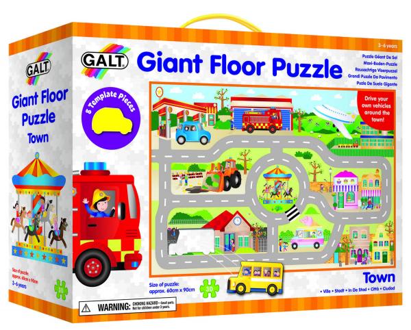 Giant Floor Puzzle: Orasul (30 piese) 0
