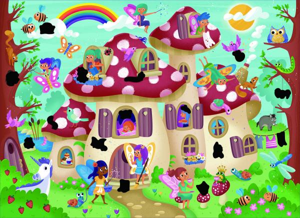 Magic Puzzle - Palatul zanelor (50 piese) 1