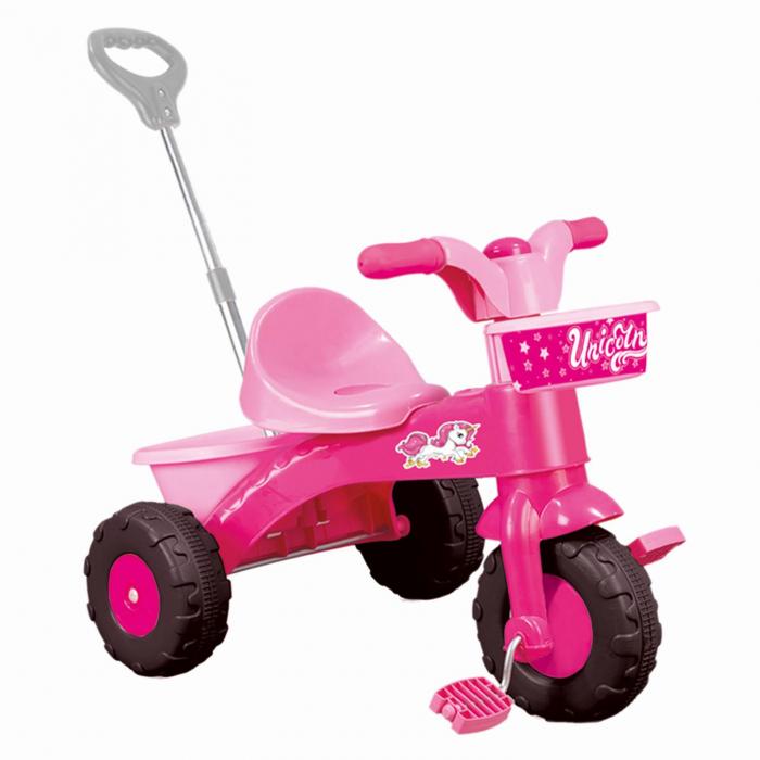 Prima mea tricicleta roz cu maner - Unicorn [0]