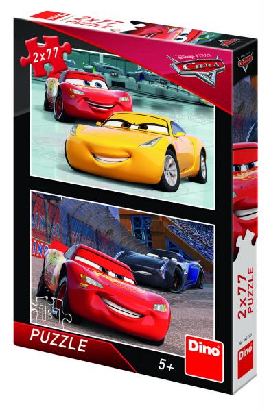 Puzzle 2 in 1 - Cars 3: Cursa cea mare (77 piese) 0