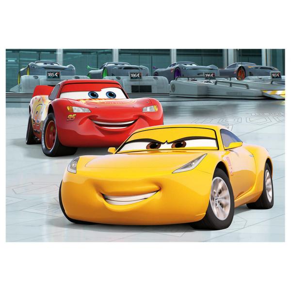 Puzzle 2 in 1 - Cars 3: Cursa cea mare (77 piese) 1