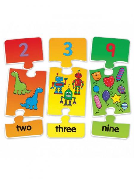 Puzzle cu numere (3 piese) 1