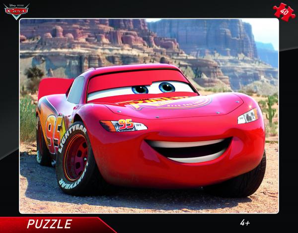 Puzzle cu rama - Fulger McQueen 0