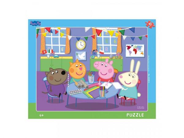 Puzzle cu rama - Purcelusa Peppa (40 piese) 0