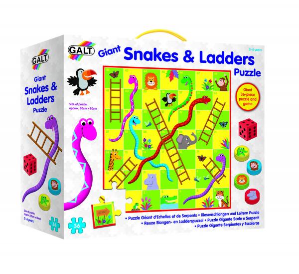 Puzzle de podea & Joc - Serpi si scari 0