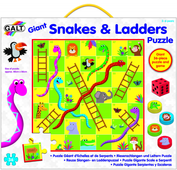 Puzzle de podea & Joc - Serpi si scari 1