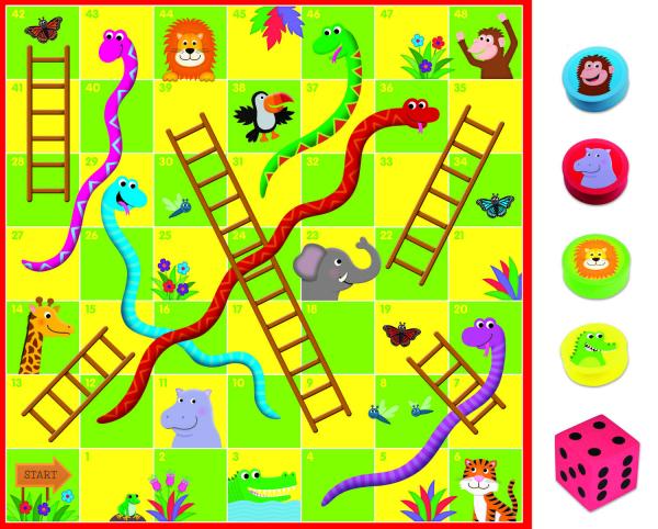 Puzzle de podea & Joc - Serpi si scari 2