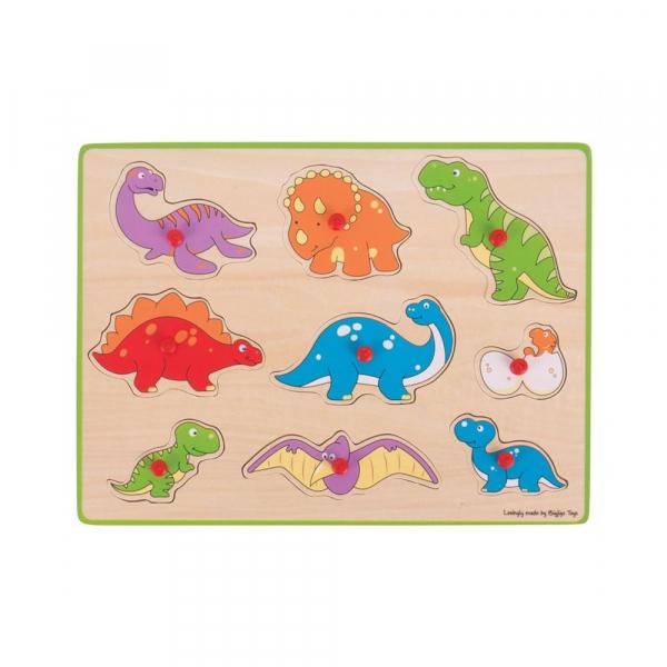 Puzzle din lemn incastru - Dinozauri 0
