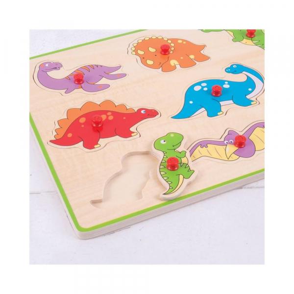 Puzzle din lemn incastru - Dinozauri 1