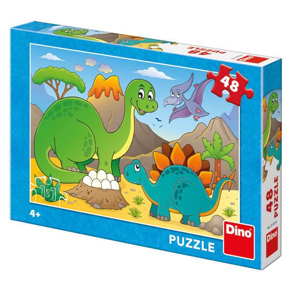 Puzzle - Dinozauri prietenosi (48 piese) 1