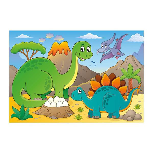 Puzzle - Dinozauri prietenosi (48 piese) 0