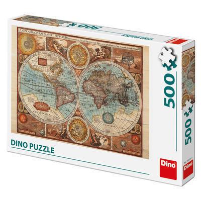 Puzzle - Harta lumii din 1626 (500 piese) 1