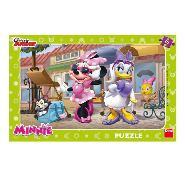 Puzzle - Minnie si Daisy la plimbare (15 piese) 0