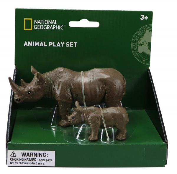 Set 2 figurine - Rinocerul si puiul 0