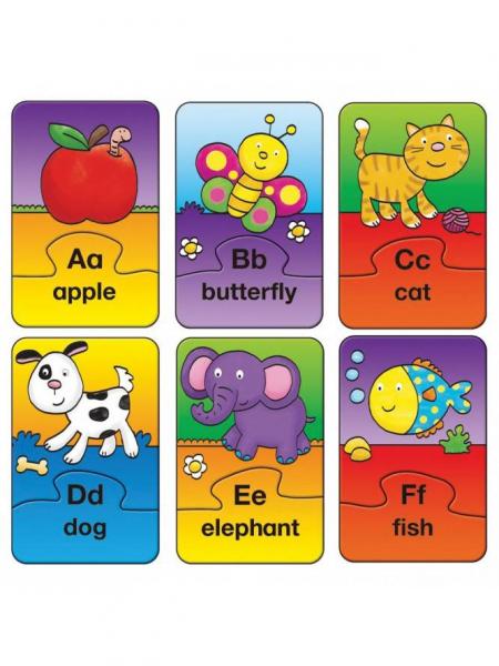 Set 26 de puzzle-uri Alphabet (2 piese) 0