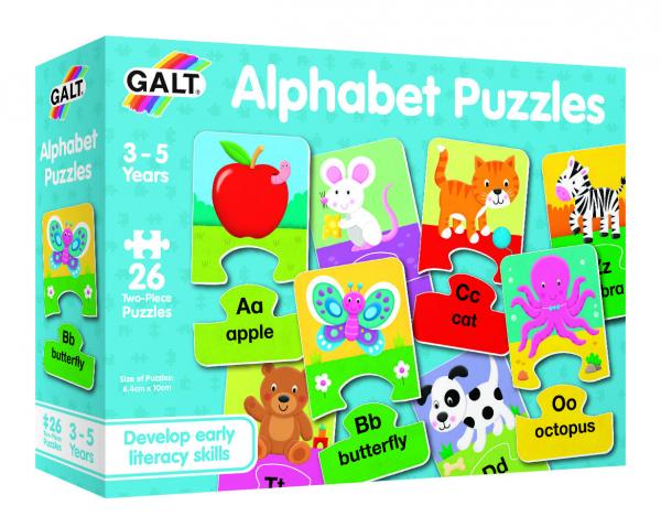 Set 26 de puzzle-uri Alphabet (2 piese) 2