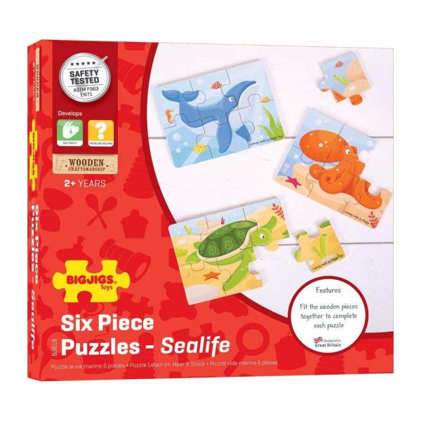 Set 3 puzzle din lemn - Lumea acvatica 3