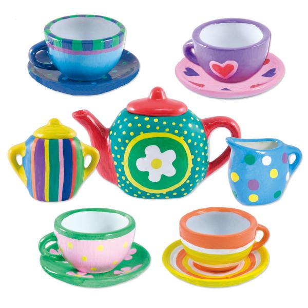 Set ceramica: Picteaza un set de ceai 0