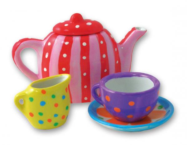 Set ceramica: Picteaza un set de ceai 2