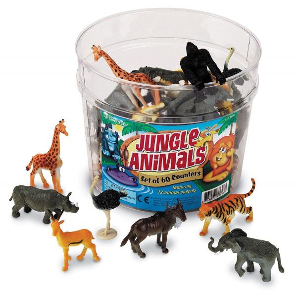Set pentru sortat - Animalute din jungla 0