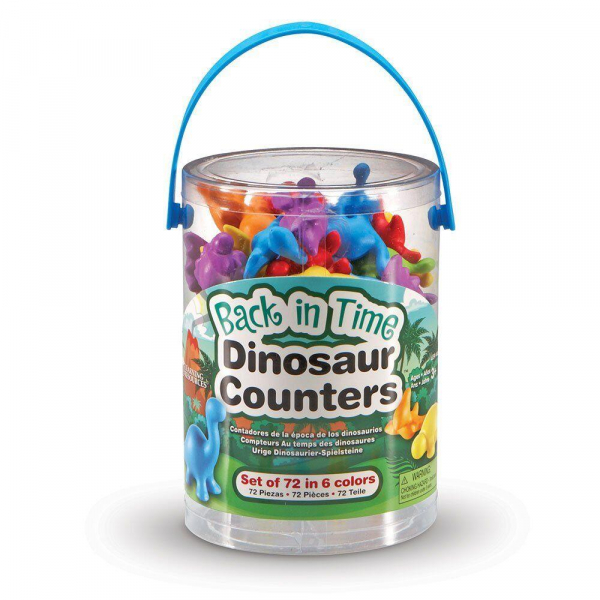 Set pentru sortat si numarat - Dinozauri jucausi (72 piese) 1