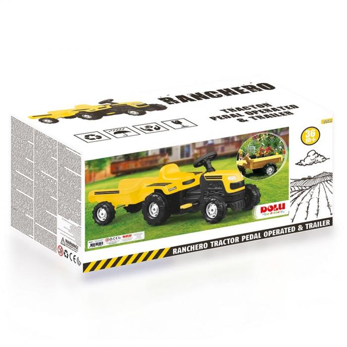 Tractor cu remorca - Galben 2