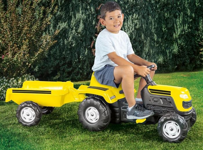 Tractor cu remorca - Galben 1