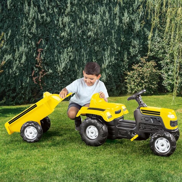 Tractor cu remorca - Galben 3