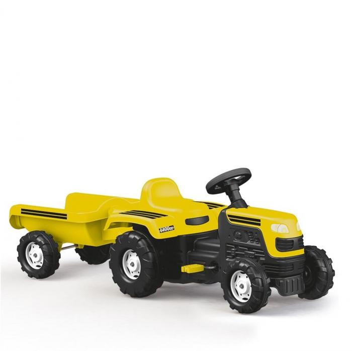 Tractor cu remorca - Galben 0